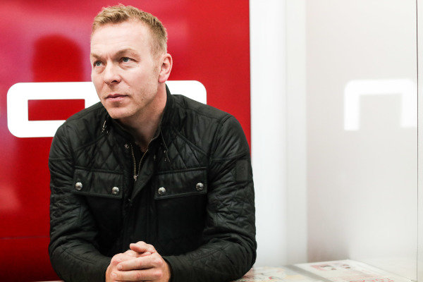 Olympic gold medalist Sir Chris Hoy in the Audi garage