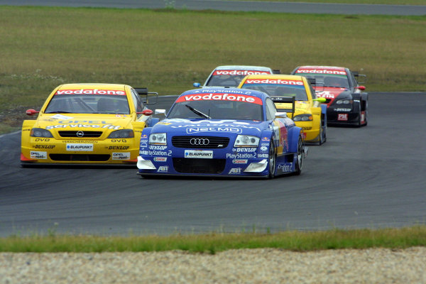 2002 DTM Championship Lausitzring, Germany. 12th - 14th July 2002.Karl Wendlinger (Abt Audi TT-R) leads Yves Olivier (Euroteam Opel Astra V8 Coupe).World Copyright: Andre Irlmeier/LAT Photographic