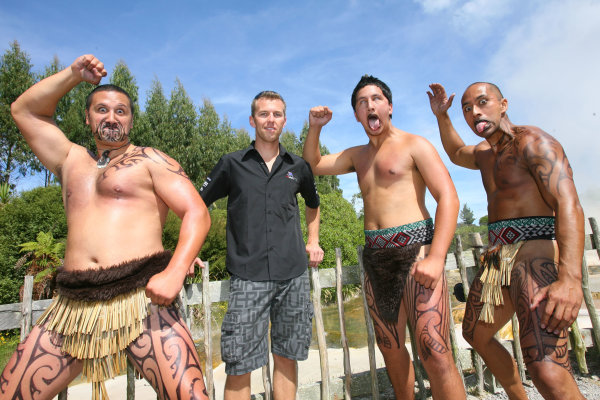 22.01 2009 Taupo, New Zealand, Chris Van Der Drift (NZL), driver of A1 Team New Zealand - A1GP Drivers - A1GP Drivers learn the Mauri Haka - A1GP World Cup of Motorsport 2008/09, Round 4, Taupo, Thursday - Copyright A1GP - Free for editorial usage