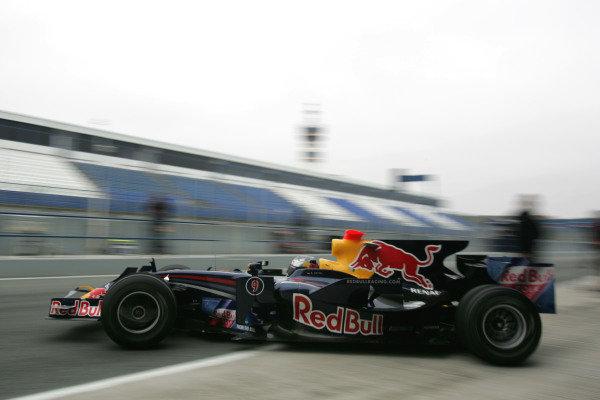 Sebastian Vettel (GER) Red Bull Racing RB4  Formula One Testing, Jerez, Spain, Wednesday, 17 December 2008