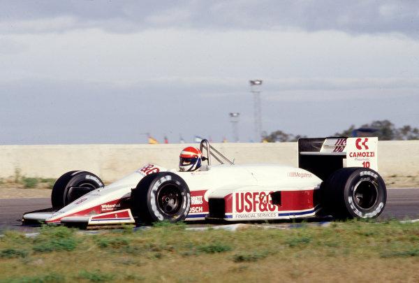 1988 Spanish Grand Prix.Jerez, Spain.30/9-2/10 1988.Eddie Cheever (Arrows A10B Megatron).Ref-88 ESP 22.World Copyright - LAT Photographic