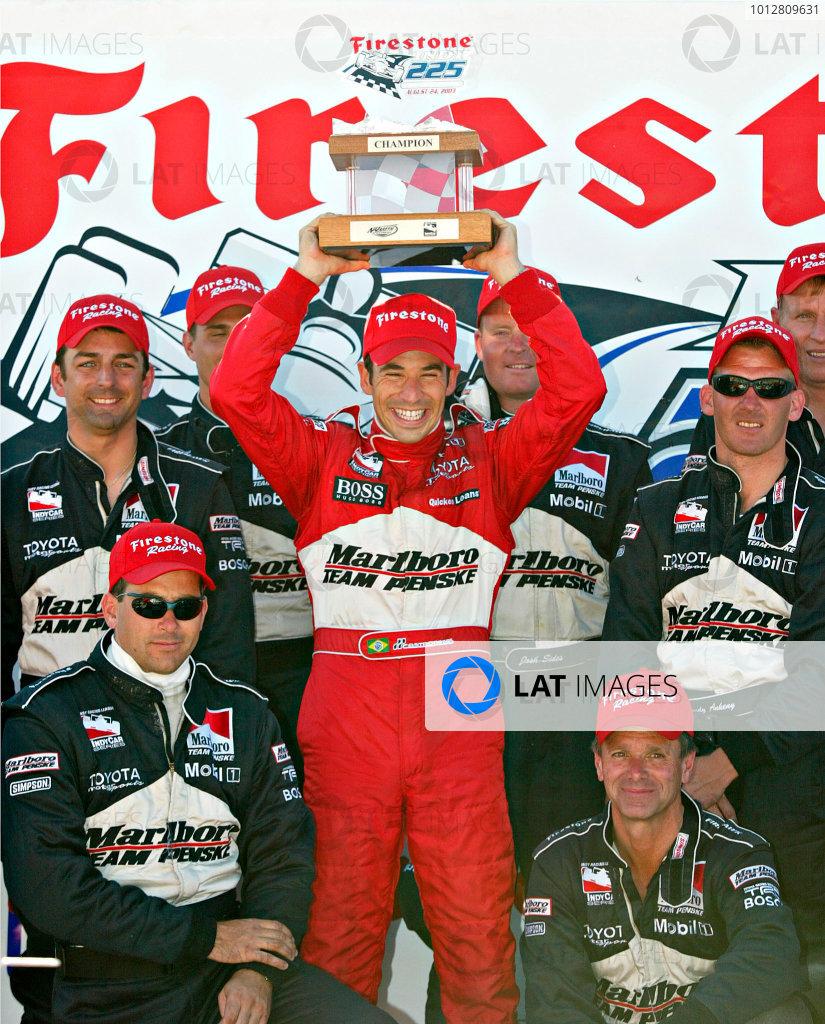 2003 IRL Firestone IndyCar 225, Nazareth, Pennsylvania, August 22 - 24, 2003 Helio Castroneves with Team Penske- Michael Kim, USA LAT Photographic