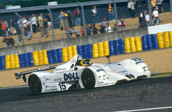 Le Mans, France. 12th - 13th June 1999. Pierluighi Martini / Yannick Dalmas / Joachim Winklehock (BMW V12 LMR), 1st position, action. World Copyright: Jeff Bloxham/LAT Photographic. Ref: 99LM06.