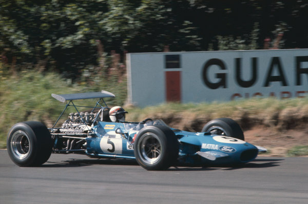 1968 International Gold Cup.  Oulton Park, England. 17th August 1968.  Jackie Stewart, Matra MS10 Ford, 1st position.  Ref: 68GC10. World Copyright: LAT Photographic