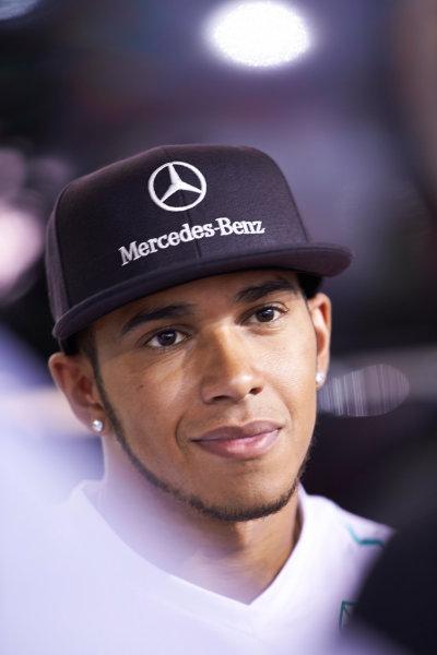 Marina Bay Circuit, Singapore. 19th September 2013. Lewis Hamilton, Mercedes AMG. World Copyright: Steve Etherington/LAT Photographic. ref: Digital Image SNE28218 copy