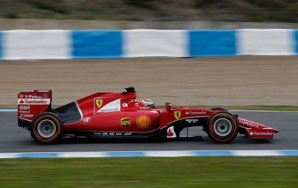 2015 F1 Pre Season Test 1 - Day 1 Circuito de Jerez, Jerez, Spain. Tuesday 3 February 2015. Kimi Raikkonen, Ferrari SF15-T. World Copyright: Glenn Dunbar/LAT Photographic. ref: Digital Image _W2Q9006