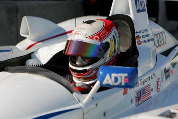Tom Kristensen (DEN) Champion Racing Audi R8.American Le Mans Series Testing, Sebring, USA, 31 January - 3 February 2005.DIGITAL IMAGE