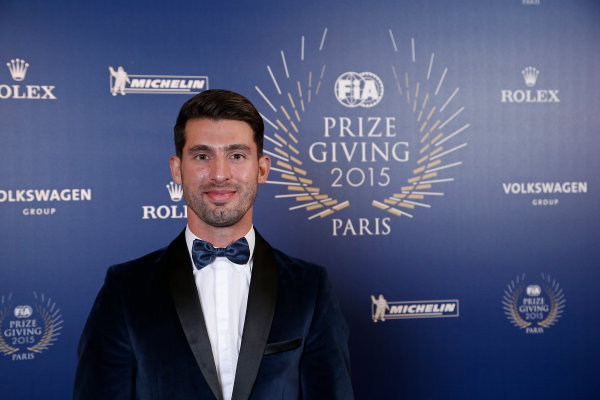 2015 FIA Prize Giving Paris, France Friday 4th December 2015 Jose Maria Lopez, World Touring Car championship champion, portrait  Photo: Copyright Free FOR EDITORIAL USE ONLY. Mandatory Credit: FIA / Jean Michel Le Meur  / DPPI ref: _ML23301