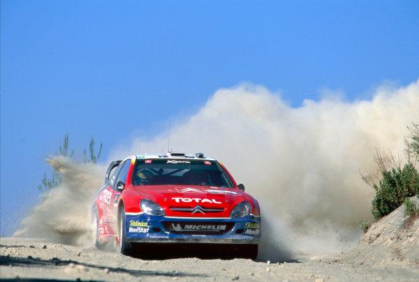 2003 World Rally ChampionshipRally of Cyprus, Cyprus. 19th - 22nd June 2003.Carlos Sainz/Marc Marti (Citroen Xsara), action.World Copyright: McKlein/LAT Photographicref: 03WRCCyprus10