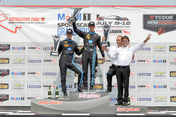 10-12 July 2015, Bowmanville, Ontario Canada 10, Chevrolet, Corvette DP, P, Ricky Taylor, Jordan Taylor on the podium in victory lane   ?2015 Scott R LePage  LAT Photo USA