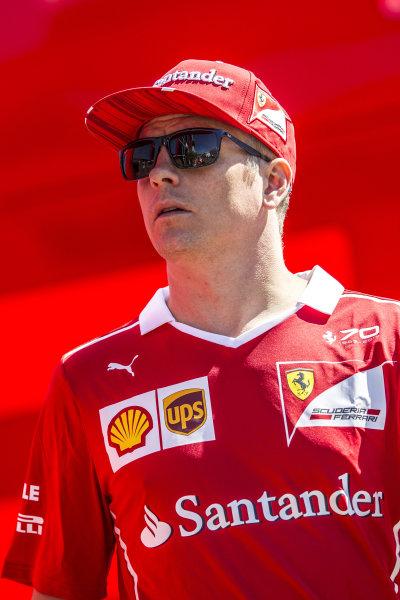 Kimi Raikkonen (FIN) Ferrari at Formula One World Championship, Rd9, Austrian Grand Prix, Preparations, Spielberg, Austria, Thursday 6 July 2017.