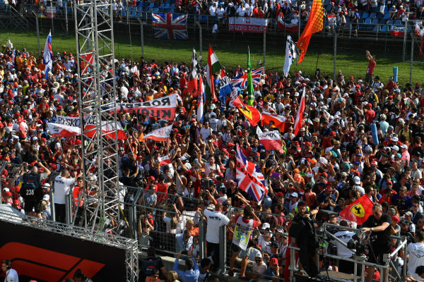 A huge crowd gathered for the podium ceremony