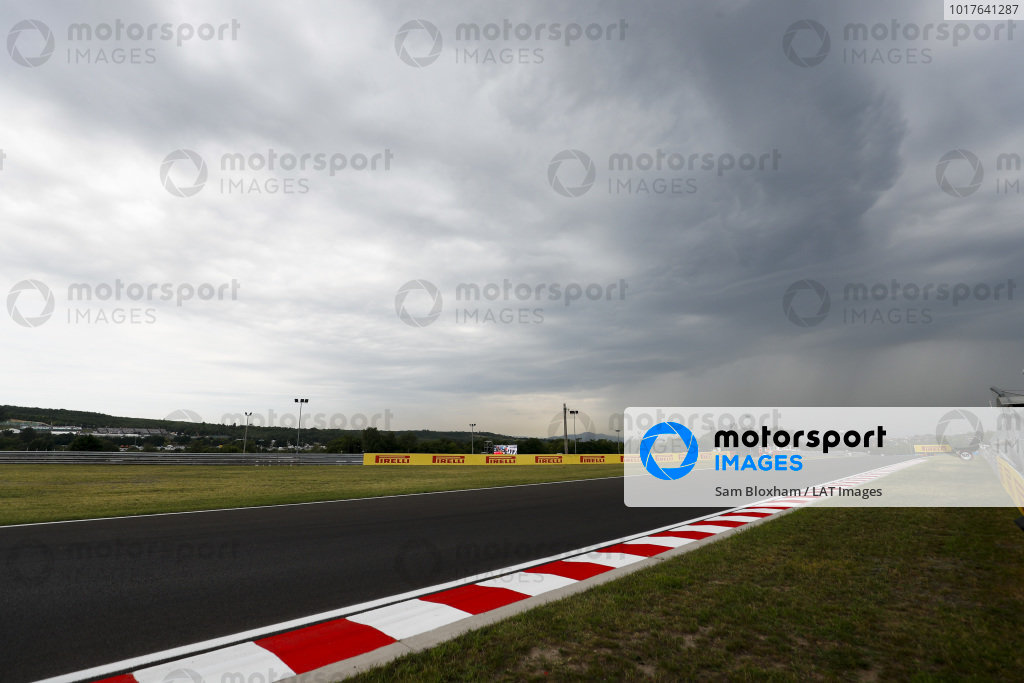 Dark clouds over the track