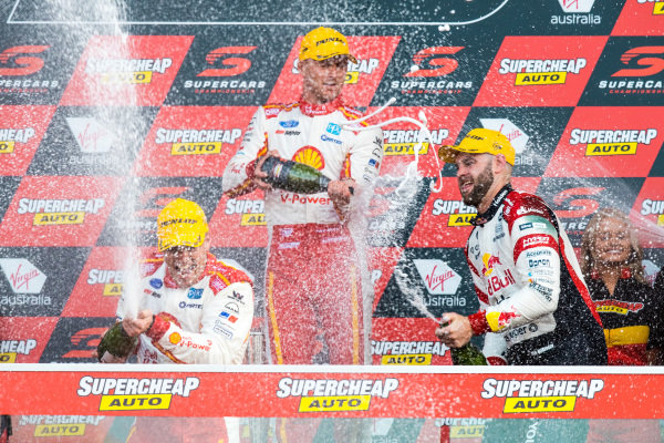 Scott McLaughlin, Alexandre Premat, DJR Team Penske Ford, Shane van Gisbergen, Triple Eight Race Engineering Holden