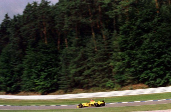 1997 German Grand Prix.Hockenheim, Germany.25-27 July 1997Giancarlo Fisichella (Jordan 197 Peugeot).World Copyright - LAT Photographic
