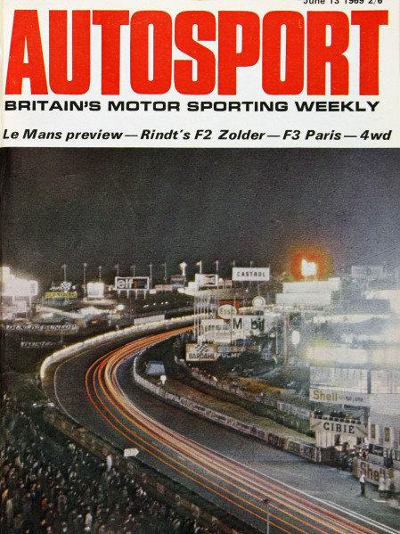 Cover of Autosport magazine, 13th June 1969