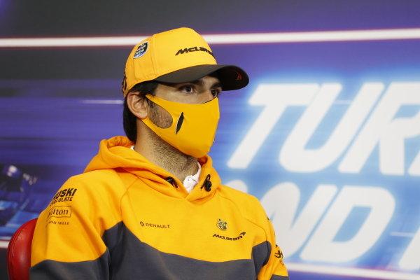 Carlos Sainz, McLaren, in the press conference