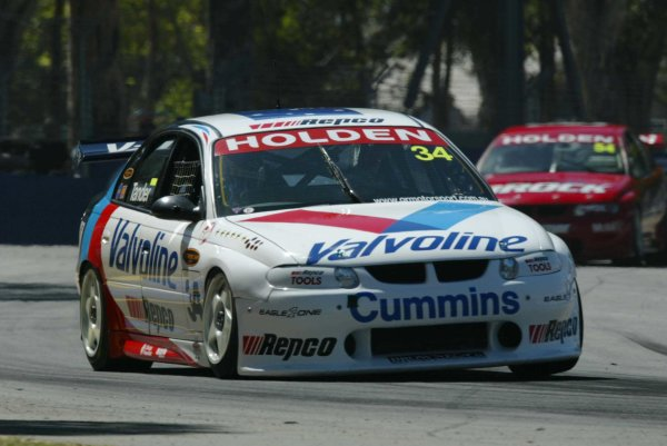 2002 Australian V8 SupercarsAdelaide Clipsal 500. Australia. 17th March 2002.Holden Commodore driver, Garth Tander, finished 3rd in Race 1.World Copyright: Mark Horsburgh/LAT Photographicref: Digital Image Only
