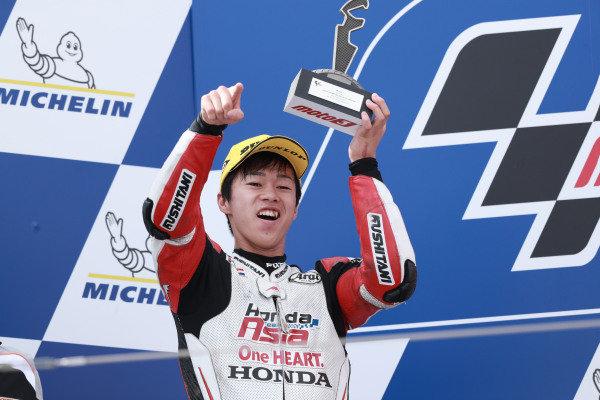 Podium: second place Ai Ogura, Honda Team Asia