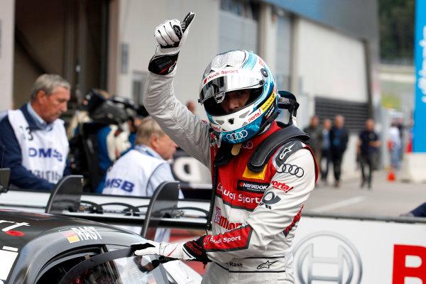 2017 DTM Round 8  Red Bull Ring, Spielberg, Austria  Sunday 24 September 2017. Race winner René Rast, Audi Sport Team Rosberg, Audi RS 5 DTM  World Copyright: Alexander Trienitz/LAT Images ref: Digital Image 2017-DTM-RBR-AT3-2659