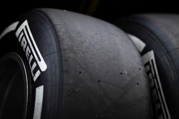 2017 FIA Formula 2 Round 8. Spa-Francorchamps, Spa, Belgium. Saturday 26 August 2017. Pirelli tyre.  Photo: Alastair Staley/FIA Formula 2. ref: Digital Image _L5R4110