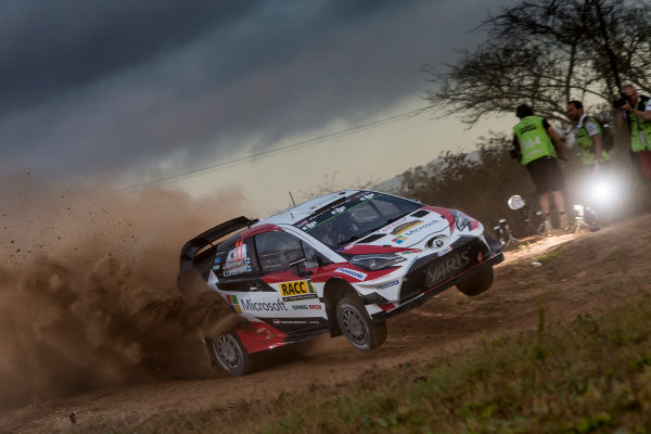 2017 FIA World Rally Championship, Round 11, Rally RACC Catalunya / Rally de España, 5-8 October, 2017, Juho Hanigen, Toyota, action, Worldwide Copyright: LAT/McKlein