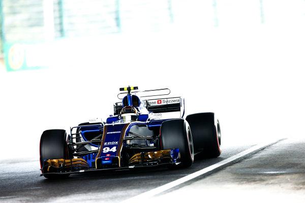 Suzuka Circuit, Japan. Saturday 07 October 2017. Pascal Wehrlein, Sauber. World Copyright: Andy Hone/LAT Images  ref: Digital Image _ONZ2714