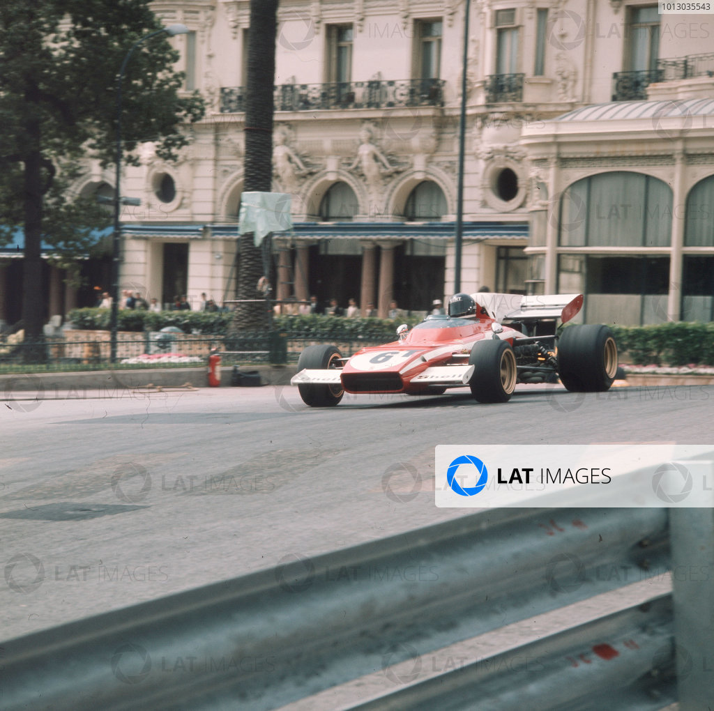 Monte Carlo, Monaco.11-14 May 1972.Jacky Ickx (Ferrari 312B2) in practice.Ref-3/5067C.World Copyright - LAT Photographic