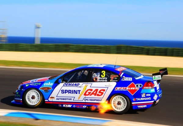 Jason Richards (NZ) Sprint Gas Racing Commodore, Had his 100th race start