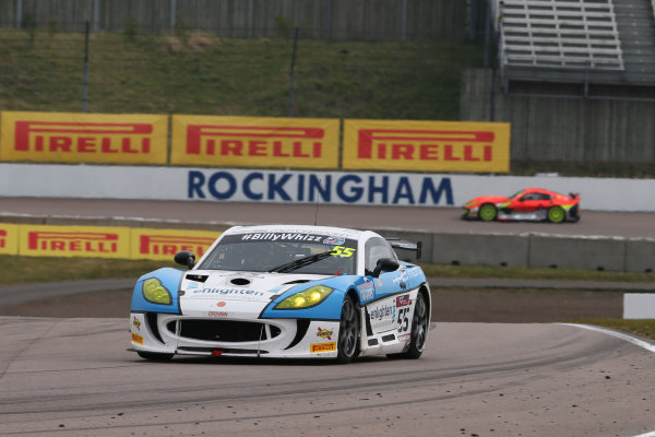 2017 British GT Championship Rockingham, England. 29th-30th April 2017, Stuart Middleton / William Tregurtha - HHC Motorsport - Ginetta G55 GT4 World copyright. JEP/LAT Images