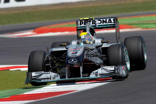 Silverstone, Northamptonshire, England9th July 2010Nico Rosberg, Mercedes GP W01. Action. World Copyright: Andrew Ferraro/LAT Photographicref: Digital Image _Q0C6247