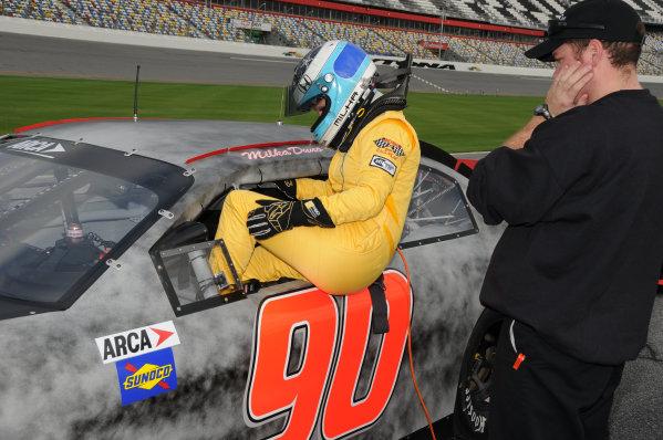 18-20 December, 2009, Daytona Beach, Florida USAMilka Duno about to take to the track.©2009, Paul Webb, USALAT Photographic