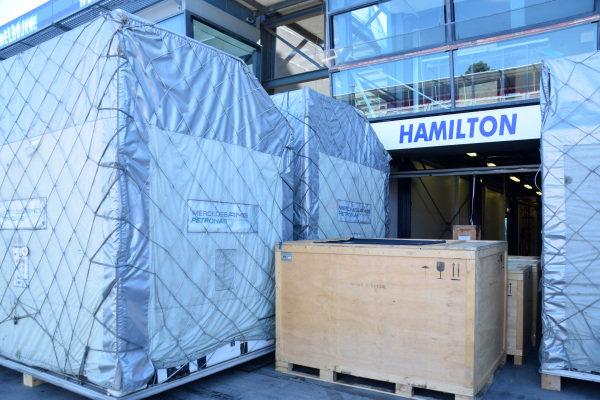 Mercedes AMG F1 freight.Formula One World Championship, Rd1, Australian Grand Prix, Preparations, Albert Park, Melbourne, Australia, Sunday 9 March 2014.