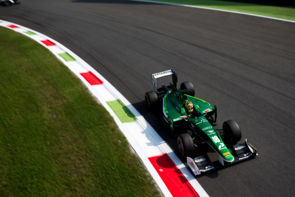 2014 GP2 Series. Round 9.   Autodromo di Monza, Monza, Italy. Sunday 7 September 2014. Rio Haryanto (INA, EQ8 Caterham Racing). Photo: Zak Mauger/GP2 Series Media Service. ref: Digital Image _L0U0330