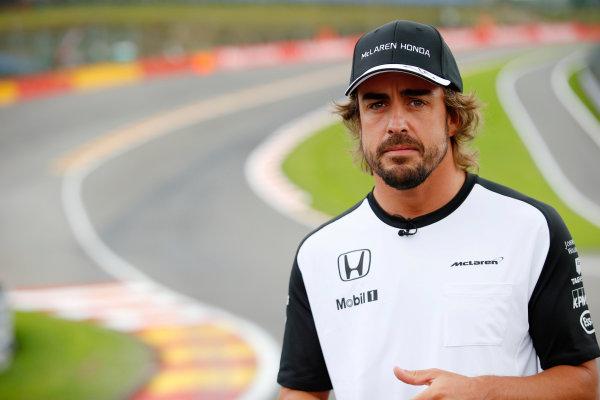 Spa-Francorchamps, Spa, Belgium. Thursday 20 August 2015. Fernando Alonso, McLaren. World Copyright: Steven Tee/LAT Photographic ref: Digital Image _L4R9181