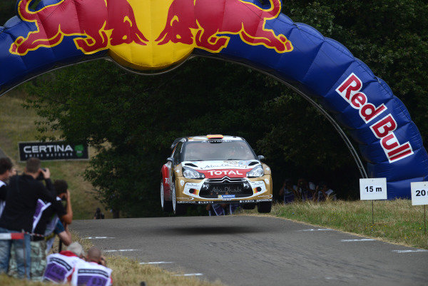 Dani Sordo (ESP) and Carlos Del Barrio (ESP), Citroen DS3 WRC on stage 11.