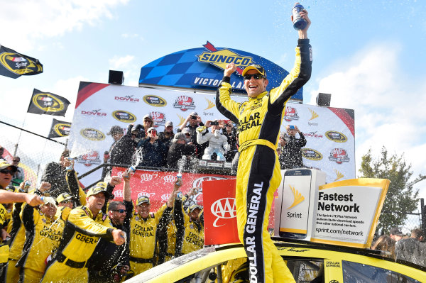 13-15 May, 2016, Dover, Delaware USA Matt Kenseth, Dollar General Toyota Camry celebrates his win in Victory Lane ? 2016, Nigel Kinrade LAT Photo USA