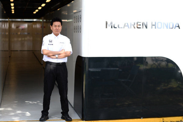 Yasuhisa Arai (JPN) Head of Honda Motorsport at Formula One World Championship, Rd1, Australian Grand Prix, Race, Albert Park, Melbourne, Australia, Sunday 15 March 2015.