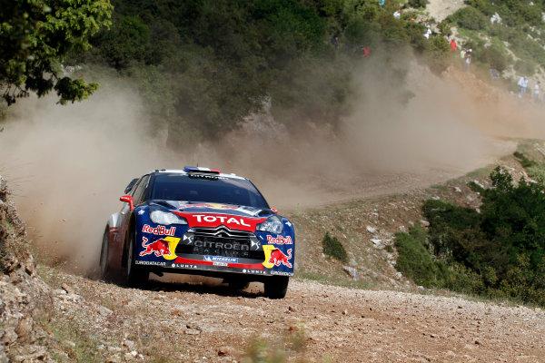 Round 06 - Rally Acropolis, Greece. 24-27 May 2012. Sebastian Loeb, Citroen WRC, Action.  Worldwide Copyright: McKlein/LAT
