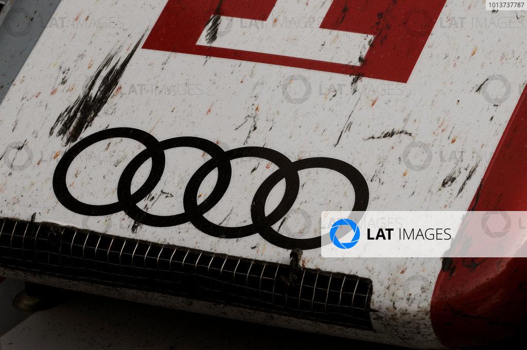 Silverstone, England. 24th - 26th August 2012. Rd 4.The car of Andre Lotterer (GER), Marcel Fassler (CHE), Benoit Treluyer (FRA), Audi Sport Team Joest, Audi R18 E-Tron Quatrro, Detail, Technical,World Copyright: Chris Bird/LAT Photographic.Ref:  _CJB8541