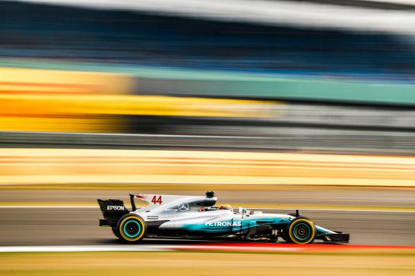 Silverstone, Northamptonshire, UK.  Friday 14 July 2017. Lewis Hamilton, Mercedes F1 W08 EQ Power+. World Copyright: Glenn Dunbar/LAT Images  ref: Digital Image _31I3297