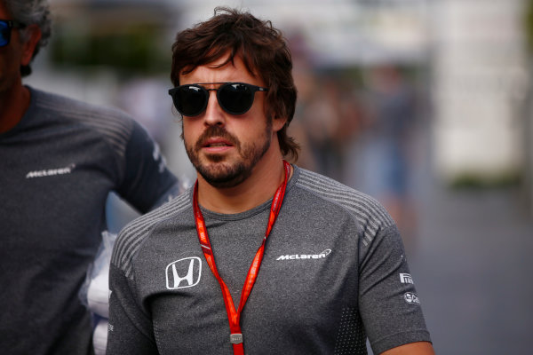 Baku City Circuit, Baku, Azerbaijan. Thursday 22 June 2017. Fernando Alonso, McLaren.  World Copyright: Andy Hone/LAT Images ref: Digital Image _ONY7829