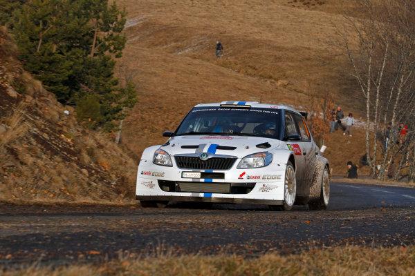 Round 01-Rally Monte Carlo 17-22 January 2012. Sebastien Ogier, Skoda S 2000,  ActionWorldwide Copyright: McKlein/LAT