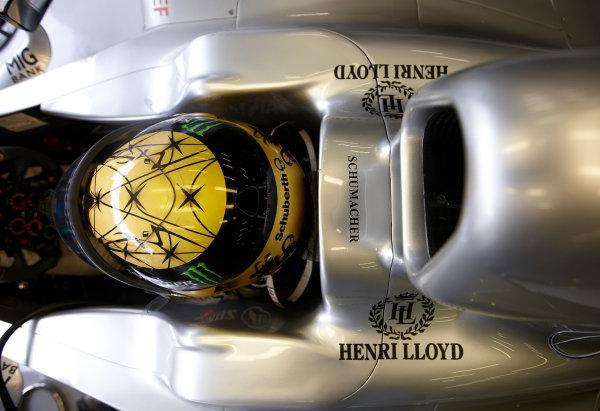 Spa-Francorchamps, Spa, Belgium 26th August 2011. Michael Schumacher, Mercedes GP W02. Portrait. Helmets.  World Copyright: Steve Etherington/LAT Photographic ref: Digital Image SNE26721