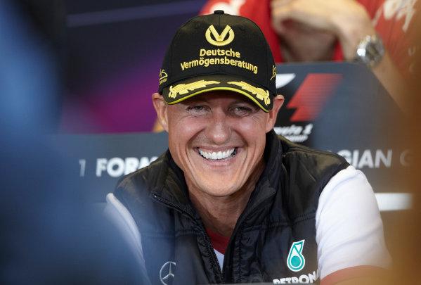Spa-Francorchamps, Spa, Belgium 25th August 2011. Michael Schumacher, Mercedes GP W02, in the Thursday press conference. Portrait. Press Conferences.  World Copyright: Steve Etherington/LAT Photographic ref: Digital Image SNE29597