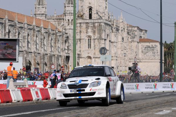 Sebastien Ogier (FRA) and Julien Ingrassia (FRA), Skoda Fabia S2000, on stage 1. FIA World Rally Championship, Rd4, Rally Portugal, Faro, Portugal, Thursday 29 March 2012.