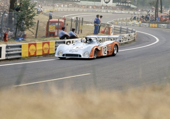 1974 Le Mans 24 hours.Le Mans, France. 15-16 June 1974.Vern Schuppan/Reine Wisell (Gulf Mirage GR7-Ford), retired.World Copyright: LAT PhotographicRef: 35mm transparency 74LM23