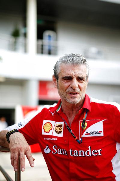 Sepang International Circuit, Sepang, Kuala Lumpur, Malaysia. Thursday 26 March 2015. Mauricio Arrivabene, Team Principal, Ferrari. World Copyright: Glenn Dunbar/LAT Photographic. ref: Digital Image _89P6026