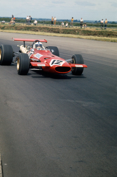 Silverstone, Great Britain. 19th July 1969.Pedro Rodriguez (Ferrari 312), retired, action. World Copyright: LAT Photographic.Ref: 69 GB 43.