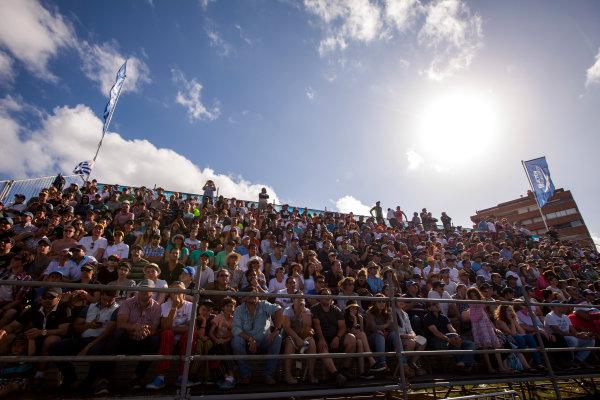 2015/2016 FIA Formula E Championship. Punta del Este ePrix, Punta del Este, Uruguay. Saturday 19 December 2015. Fans in the grandstand. Photo: Zak Mauger/LAT/Formula E ref: Digital Image _MG_5694